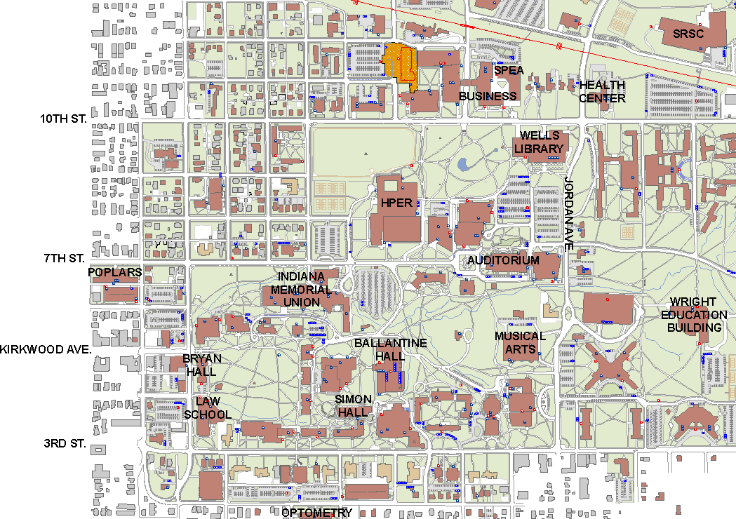 Indiana University Map Iu Campus Map Pdf Inspiring World Map